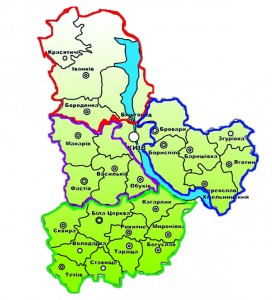 Карта Київщини